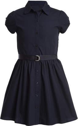Nautica Big Girls Cotton Poplin Shirtdress