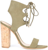 Schutz Cruz lace-up sandals - women - Leather/Suede/Cork - 6