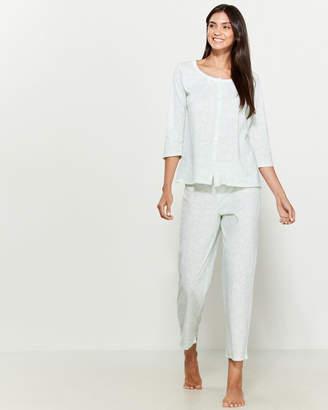 Aria Two-Piece Printed Pajama Top & Pants Set