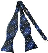 Pense'e Pensee Mens Self Bow Tie Multi-color Plaids & Checked Jacquard Woven Silk Bow Ties