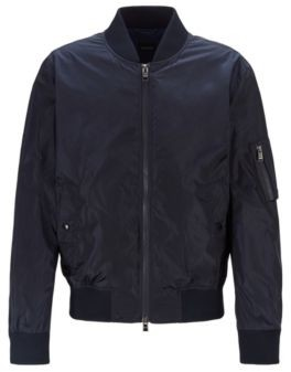 BOSS Bomber jacket in water-repellent fabric with sleeve pocket