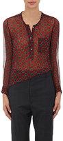 Etoile Isabel Marant Women's Boden Crinkled Silk Chiffon Henley