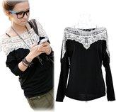 SoForYou SFY Korea Fashion Womens Boat Neck Long Sleeve Shirt T-shirt Tee Tops Blouse