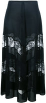 Stella McCartney sheer lace panel maxi skirt - women - Silk/Cotton - 40