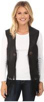 Scully Eva Mesh Back leather Vest