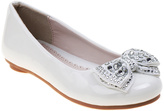Laura Ashley White Patent Bow Ballet Flat