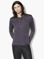 John Varvatos Silk Cashmere Crewneck Sweater