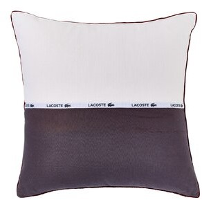 Lacoste Cotton Throw Pillow Color: White/Light Blue