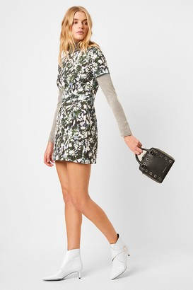 French Connection Enid Stretch Print Fit and Flare Dress