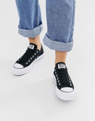 Converse Chuck Taylor Ox platform black sneakers