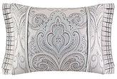 J Queen New York Romance Spa Velvet-Corded Pleated Damask Boudoir Pillow