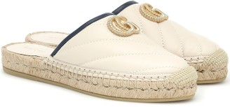 Gucci Pilar leather espadrille slippers
