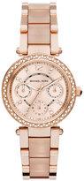 Michael Kors Mini Parker Rose Golden Stainless Steel Watch