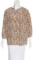 Thakoon Silk Abstract Print Blouse