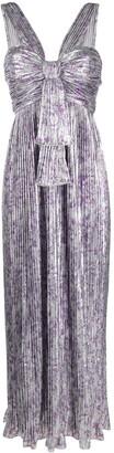 Paco Rabanne Floral Pleated Midi Dress