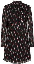 Saint Laurent Lipstick Print Dress