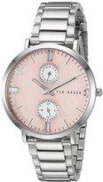 Ted Baker Women's 10024715 Dress Sport Analog Display Japanese Quartz Silver Watch