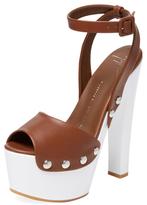 Giuseppe Zanotti Bicolor Leather Platform Sandal