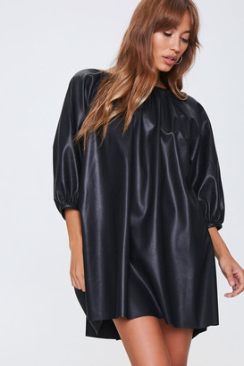 Forever 21 Faux Leather Shift Dress