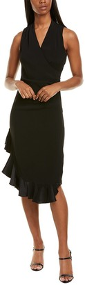 Nicole Miller Ruffle Hem Sheath Dress