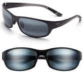 Maui Jim Women's 'Twin Falls' 63Mm Polarized Sunglasses - Gloss Black Fade/ Neutral Grey