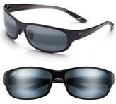 Maui Jim Women's Twin Falls 63Mm Polarizedplus Sunglasses - Gloss Black Fade/ Neutral Grey