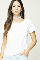 Forever 21 FOREVER 21+ Relaxed Sequined Top