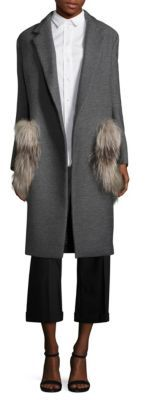 Aquilano Rimondi Wool Fur Pocket Coat