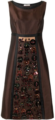 Prada Pre Owned crystal-embellished A-line dress