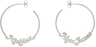 Marc Jacobs Silver New York Magazine Edition Small Logo Hoop Earrings