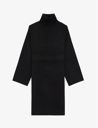 The Kooples Rollneck wool-blend jumper dress