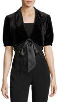 Nanette Nanette Lepore Half-Sleeve Velvet Shrug, Black