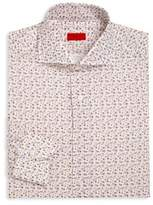 Isaia Floral Printed Dress Shirt