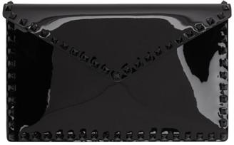 Valentino Black Garavani Patent Large Rockstud Flat Pouch