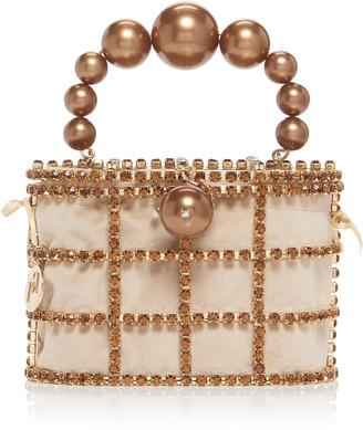 Rosantica Holli Embellished Gold-Tone Top Handle Bag