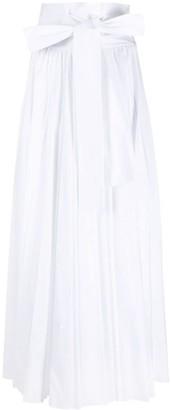Philosophy di Lorenzo Serafini Bow-Detail Pleated Maxi Skirt