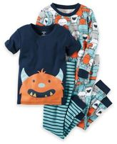 Carter's 4-Piece Monster Pajama Set