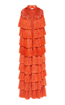 Naeem Khan Hooded Fringe Cape
