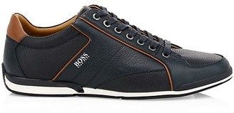 HUGO BOSS Saturn Low-Top Leather Sneakers