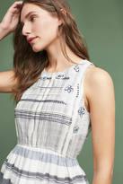Maeve Embroidered Jacquard Peplum Top
