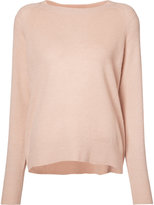 Vince Pink Cashmere Crew neck jumper - women - Linen/Flax/Cashmere - L