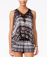 Jessica Simpson Printed Split-Back Top