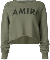 Amiri - logo crop top - women - Cotton - XS