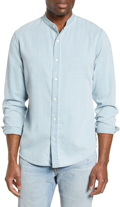 Frame Slim Fit Solid Button-Up Shirt