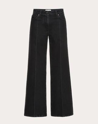 Valentino Deconstructed Vlogo Black Jeans Women Black 27