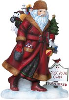"Precious Moments 7151204 Pipka, Christmas Gifts, ""Door County Santa"", Artist's Choice Resin Sculpture"