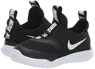 Nike Flex Runner (Infant/Toddler) (Black/White) Kids Shoes