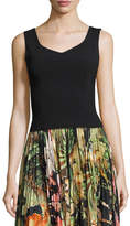 ADAM by Adam Lippes Sleeveless Scoop-Back Top, Black