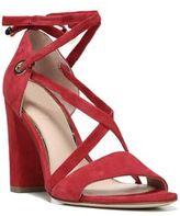Diane von Furstenberg Calabar Lace-Up Suede Block-Heel Sandals
