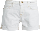 Current/Elliott The Slouchy frayed-cuff denim shorts